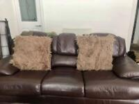 Three Piece Sofa Suite and Pouffe - Delivery Available