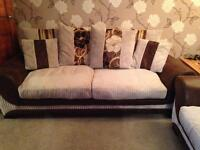2x2 large 2 seater Fabric/Suede sofas....