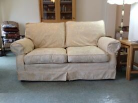 Sofa bed settee @ armchairs smart warm light colour