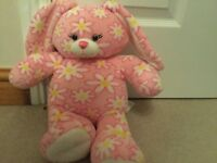 "Pink flower bunny rabbit Build A Bear / Bear Factory 16"" soft plush cuddly Toy"