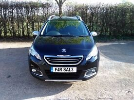 PEUGEOT 2008 CROSSOVER FROM 2014 BLACK 31000 MILES NEW TYRES NEW MOT