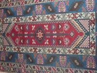 Genuine Vintage Persian Rug/235 cm X 151 cm without the fringes