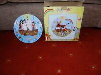 Children's Wooden Wall Clock