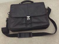 Black Leather Laptop Bag (ex John Lewis)