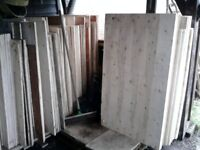 PLYWOOD OFFCUTS ALSO 38mm CHIPBOARD (for flooring/commercial shelving)