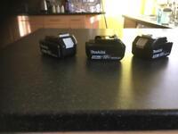 Makita batteries 18v 3.0 ah unused