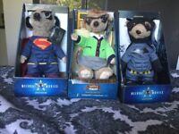 3 meerkat teddies