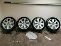 Genuine Audi Alloys Alloy Wheels 5x112 Fitment 225/50/17 (a4,a6,passat,superb etc)