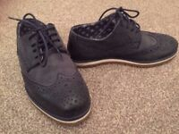 Next Signature Kids Navy Brogues - Size 12 UK - Used in Excellent Condition