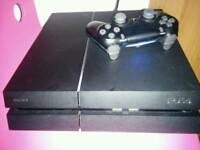 PS4 matte version 1tb with games