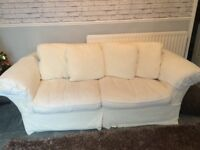 Cream two and three seater sofas - need gone this Thursday
