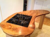 Solid Elm wood Kitchen island, custom made. (used)