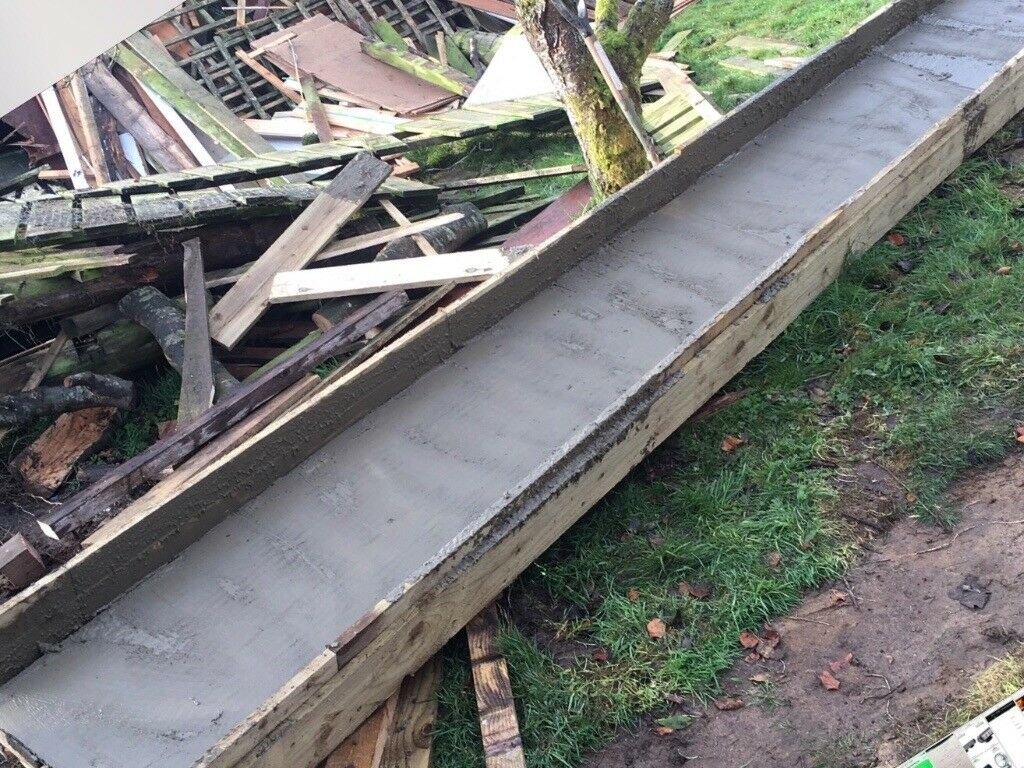Concrete/cement chute/slide 5 5 m long to save the back breaking