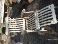 garden teak steamer chair