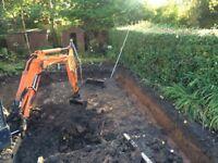 (Dig and shift) digger garden house rent concrete dog pen car van port )