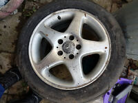 16 inc mercedes 4 alloy rim sliver tyre are no use in wembley