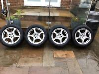 "17"" 5x110 Alfa Romeo Brera 159 Giulietta Alloy Wheels With Snow Winter Tyres"