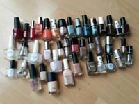 40 Nail Varnishes Job Lot - including Nails inc./Ciate/Revlon/Maybelline etc.