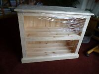 """Solid Pine Bookcase - New- h 2'4"""" x w 2'10 (collect Chelmsford)"""