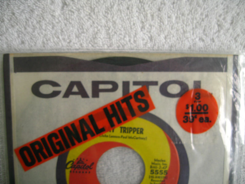 1965 BEATLES ORIGINAL SEALED 45 CAPITOL WE CAN WORK IT OUT/DAY TRIPPER $149.95 !