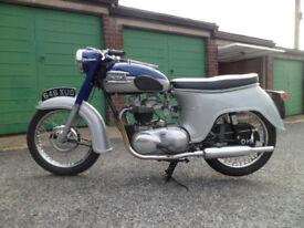 triumph tiger 110 classic bike