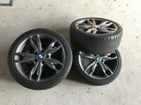 """NEW - BMW 18"""" M Double spoke 436 alloy wheels with Michelin tyres"""
