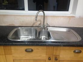 Franke 1.5 Bowl stainless steel sink and mixer taps