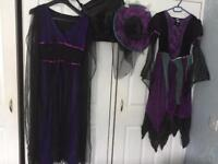 Halloween witches dresses (One large and one small)