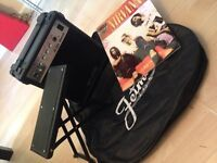 Guitar starter pack - Amp, guitar case, footstool and Nirvana song book