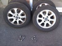 Volvo alloy wheels and tyres almost new