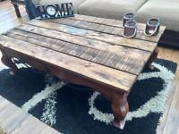 Large rustic Chinese style coffee table