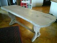 Elm refectory dining kitchen table