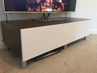 Gloss white TV unit with drawers