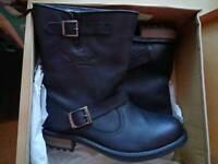 Superdry leather biker boots, unwanted gift