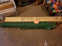 NEW CAMELOT GREEN WOODEN POLE PARASOL 3M