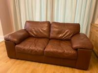 ****NOW SOLD ********2 brown leather sofas for sale - matching pair