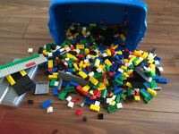 Lego type building blocks