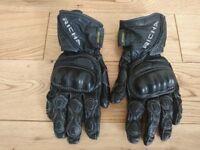 Ladies Medium Leather Motorcycle Gloves