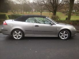 2007 07 SAAB 9-3 1.9 VECTOR SPORTS TID 2 DOOR AUTOMATIC CONVERTIBLE GUN METAL GREY