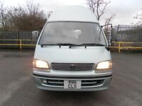 TOYOTA HIACE 3.0 TD AUTOMATIC LWB CAMPER VAN MOTOR HOME PROJECT OR EXPORT DRIVES SUPERB