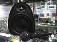 Monacor TXA 110 portable PA system speaker & mic