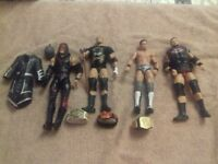 WWE Elite wrestling figures and belts