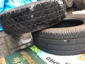 Transit van tyres x2 215/75/r16c good tread £15 each