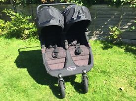 City Jogger GT double buggy and carrycots