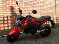 2016 Honda MSX 125 (Grom) 1 Lady owner from new, F/M/D/S/H