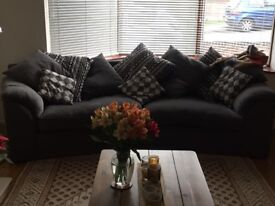 4 seater sofa and love chair with footstool £500