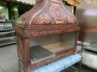 new copper 1.2 mangal grill catering commercial kitchen fast food take away shop