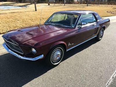 1968 Ford Mustang 2 Door Coupe C Code Classic All Original Pony Car Factory A C Power Steering Turn Key Driver