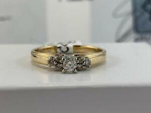 #3901 14K Yellow & White Gold Diamond Engagement Ring *SIZE 8 1/2* APPRAISED AT $1950.00
