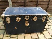 Huge vintage trunk